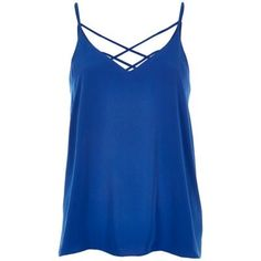 I'm shopping Blue strappy cami in the River Island iPhone app.