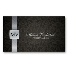 21 Best Black Business Cards With Silver Writing Images Black