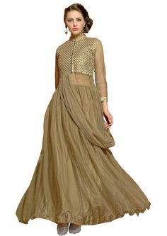 Get the best deals for Attractive Beige Gown here - Product http://ethanica.myshopify.com/products/attractive-beige-gown  #readymadegowns #readymadegowns