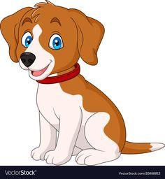 Cartoon Drawings, Animal Drawings, Farm Animals, Cute Animals, Cute Dog Cartoon, Dog Vector, Dog Wear, Baby Dogs, Cute Dogs