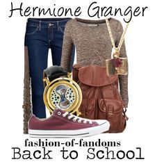 Hermione Granger by fofandoms Harry Potter Mode, Harry Potter Style, Harry Potter Hermione, Harry Potter Outfits, Harry Potter Characters, Hermione Granger, Ron Weasley, Disney Bound Outfits, Disney Inspired Outfits