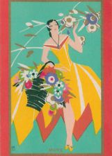 Vintage Swap /Playing /Cards -Art Deco Named Marie - Colorful Playing Card