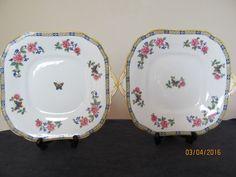 Vintage Aynsley Butterfly Pattern - Lawleys Regent Street - Pair of Cake Plates | eBay