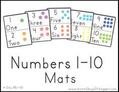 LAWTEEDAH: Number Mats 1- 10