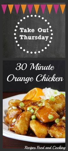 Take Out Thursday! Easy Orange Chicken is made with chicken breasts, lightly fried and then topped with a orange and honey sauce. Ready in less than 30 minutes. - Recipes, Food and Cooking