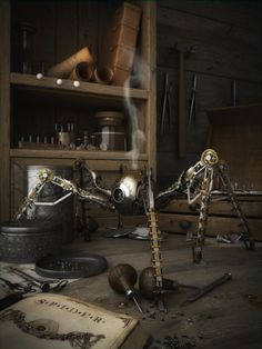 CG Arts / Awesome steampunk spider from VFXG.org