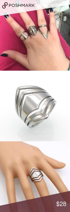 Stainless Steel Ring Buy before 4 P.M to be shipped SAME DAY! Stainless steel, titanium steel material. So unique vintage style. High quality ! Price is for the ring shown in second and third pictures. Jewelry Rings