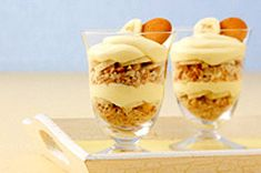 Fluffy Banana Pudding Parfaits... WHAT YOU NEED:  24 Nilla Vanilla Wafers, divided...  1 pkg. (4-serving size) Jell-O Banana Instant Pudding...  2 cups cold milk...  3/4 cup thawed Cool Whip Whipped Topping...  1 banana, cut into 20 slices...