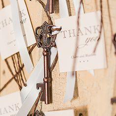 Bronze Finish Antique Style Key Bottle Opener Favors in Gift Box Elegant Wedding Favors, Unique Wedding Favors, Wedding Ideas, Wedding Stuff, Wedding Inspiration, Bodas Shabby Chic, Key Bottle Opener, Bottle Stoppers, Antique Keys