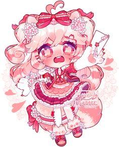 Cute Anime Chibi, Kawaii Chibi, Kawaii Anime Girl, Kawaii Art, Cute Animal Drawings Kawaii, Cute Drawings, Character Art, Character Design, Cute Art Styles