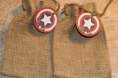 30 Captain America Birthday Party Favor Tags by GreenAcresCottage, $28.50