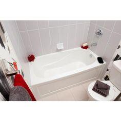 Mirolin   Sydney Acrylic Skirted Tub   60 Inch x 30 Inch  Right Hand  AVENUE Alcove bathtub   MAAX Professional 60x30x21   Tiny House  . Maax Avenue Bathtub Installation Instructions. Home Design Ideas