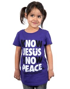 Know Jesus (Youth Girls) - Christian Kids Shirts for $14.99   C28.com