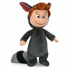 "If you're going to be a Lost Boy, dress warmly! LOST BOY DRESSED AS A RACCOON PLUSH SOFT TOY DOLL (from Walt Disney's ""Peter Pan"")"