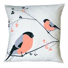 Bullfinch cushion by Lorna Syson