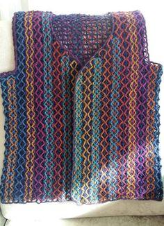 Crochet Top, Crochet Vests, Tote Bag, Women, Fashion, Cake, Knit Cardigan, Jackets, Dots
