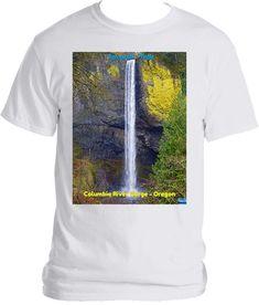 Latourell Falls at Guy W. Talbot State Park - Columbia River Gorge - OR Columbia River Gorge, State Parks, Colorful Shirts, Guy, Outdoors, Fall, Mens Tops, T Shirt, Travel