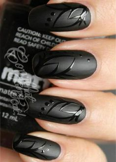 I like the idea of painting the nail in matte first & then adding a design with a gloss polish