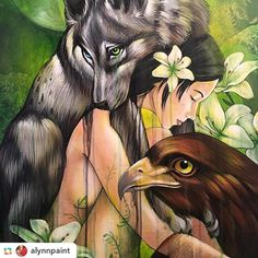 """Season of change"" Flora and fauna in perfect harmony with humans or at least it should be. By @alynnpaint ======> @alynnpaint:#Amandalynn #SeasonsofChange @distinction_gallery #May2016 #illustration #art #artsy #arts #artist #artwork #instaartist #artcollective #galleryart #urkina #artistic"