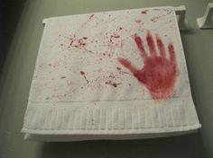 Bloody Hands Towel