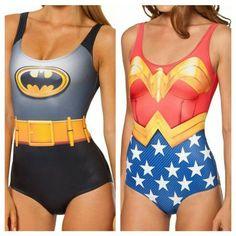 womens juniors batman wonder woman one piece swimsuit justice league hero dc  #dc #OnePiece