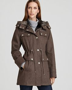 Laundry by Shelli Segal Wool Military Jacket   Bloomingdale's