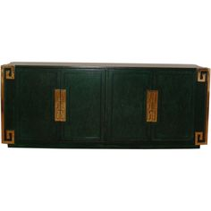 Emerald Credenza with Greek Key Motif