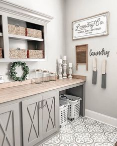 Love Joanna Gaines's style aesthetic? Flip through for homes that have that same… - Love Joanna Gaines's style aesthetic? Flip through for homes that have that same… Love Joanna Gaines's style aesthetic? Flip through for homes that have. Laundry Room Remodel, Laundry Room Storage, Laundry Room Design, Laundry Room Tile, Laundry Closet, Laundry Room And Pantry, Laundry Room With Cabinets, Laundry Table, Laundry Room Colors