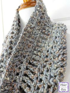 20 Terrific FREE Crochet Patterns for Practicing Tall Stitches: Platinum Cowl Free Crochet Pattern
