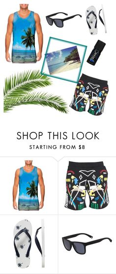 """""""beach men"""" by polivore1212 ❤ liked on Polyvore featuring Marcelo Burlon, Gap, Lacoste, men's fashion and menswear"""