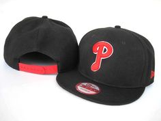 New Era MLB Philadelphia Phillies Snapback Hats Caps Black 3847! Only $8.90USD