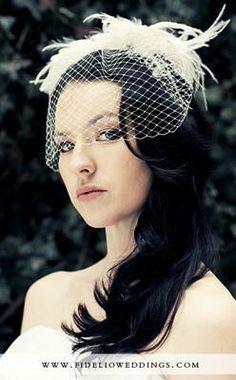 Mrs. Deviled Egg's Birdcage Veil DIY The Results :  wedding diy veil De16 de1