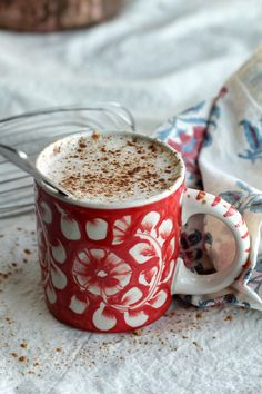 Spiced Holiday Tea~this is like a chai cappucino, used splenda instead of sugar. Also used leftover british blend tea in place of water