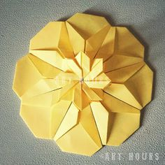 Tutorial for origami carnation flower origami carnation flower origami mandala folded by art hours mightylinksfo Images