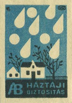 vintage hungarian matchbox cover