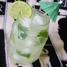 Sugar-Free Mojito Punch--also a good way to use up all those mint leaves in the backyard.