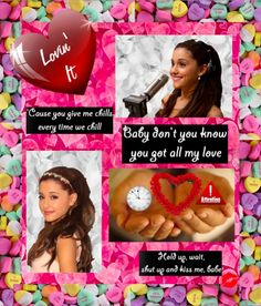 """Lovin' It Photo Collage by MAC from Ariana Grande's Yours Truly album. """"Baby don't you know you got all my love, all my love...Hold up, wait, shut up and kiss me, babe I just wanna get a little taste I just wanna get a little taste before you go...'Cause you give me chills every time we chill...Love and affection All my attention You don't gotta question If I'm really Lovin' your lovin' I'm lovin' it, lovin' it baby"""""""