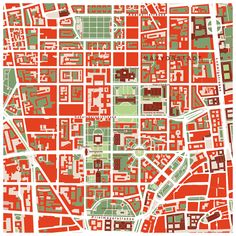 "mapsontheweb:  ""  This is a fragment of the #map of #Munich by PlanosUrbanos: district Maxvorstadt, often called the ""Brain of Munich"". sited in the north of the historical center. WE can visit there an extraordinary high number of artistic and..."