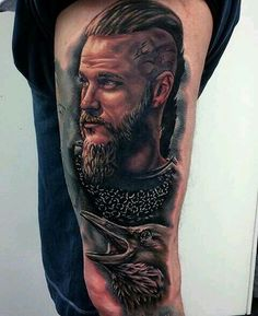 Photo from hannah. Tatto Viking, Viking Tattoo Sleeve, Viking Art, Viking Tattoos, Arm Tattoo, Sleeve Tattoos, Ragnar Lothbrok, Lagertha, Best Tattoos For Women