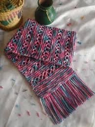 Resultado de imagen de buscar bufandas tejidas artesanas para chicas mesclas de colores pnterest.com
