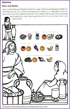 Sunday School: Mary, Martha, and Lazarus