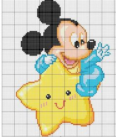 Baby Mickey & star.YES! totally making this for B!