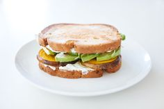 Golden Beet and Tzatziki sandwich