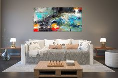 Items similar to Large Modern Wall Art Painting,Large Abstract wall art,texture art painting,abstract originals,bathroom wall art on Etsy Large Abstract Wall Art, Large Canvas Art, Gold Canvas, Painting Abstract, Textured Painting, Painting Art, Large Painting, Knife Painting, Modern Wall Decor