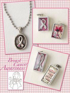 Jewel Kade Breast cancer awareness charms!