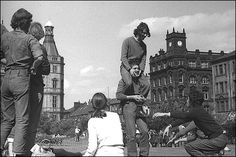 Fun in Sheffield Peace Gardens, late 1960s