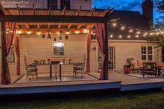 Our Budget DIY Deck Makeover Reveal! - Heathered Nest deck on a budget patio makeover Deck & Cover.Backyard Deck Ideas & Our Deck Makeover Reveal! Deck Makeover, Backyard Makeover, Deck With Pergola, Backyard Pergola, Cheap Pergola, Gazebo, Pergola Designs, Patio Design, Pergola Ideas