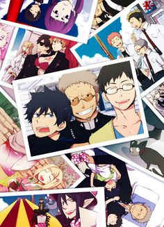 I absolutely absolutely love this!! My favourite is definitely the one of Fujimoto shinnpu and the boys. He was one EPIC foster father. His love for Rin and Yukio was simply extraordinary! *sniff* #AoNoExorcist ~~ Happy Days