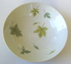 Vintage Mikasa Elite Fine China Serving Bowl-falling Leaf Pattern