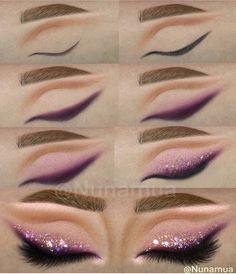 Makeup Eye Looks, Eye Makeup Art, Glam Makeup, Eyeshadow Makeup, Bts Makeup, Eye Makeup Pictures, Makeup Charts, Brown Skin Makeup, Makeup Illustration
